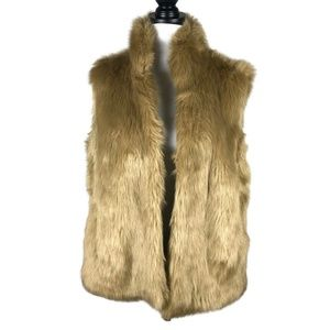 G By Giuliana Rancic Faux Fur/ Faux Leather Vest